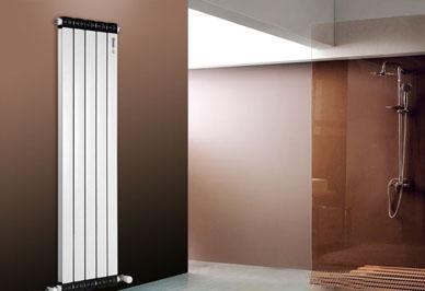 铜铝复合暖气片72x60浴室安装效果图