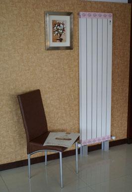 铜铝复合暖气片100x60书房安装效果图