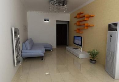暖气片客厅安装效果图展示-家里取暖水暖气片和电暖气片哪个好用