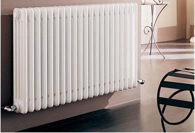 金旗舰钢制暖气片客厅安装效果图