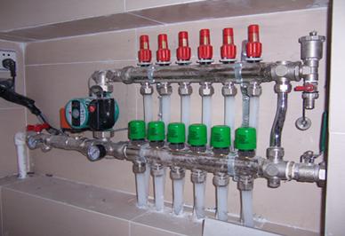 暖气片分水器安装示意图