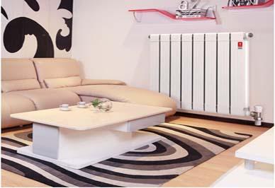 金旗舰铜铝复合暖气片卧室安装效果图